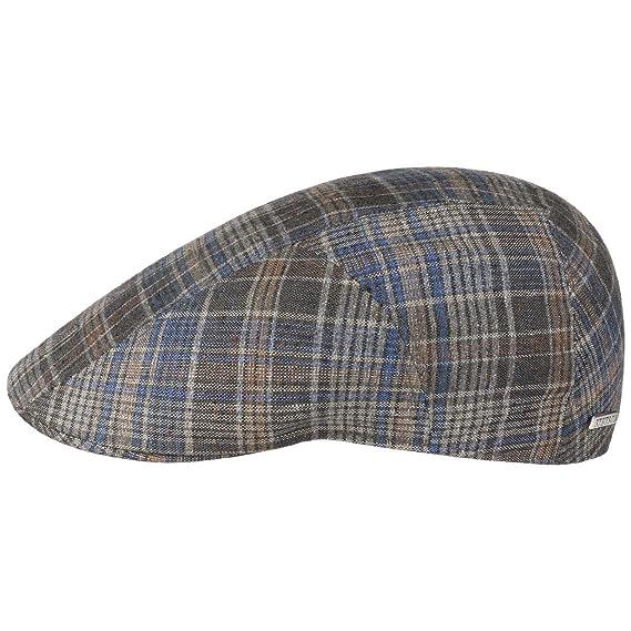 Image Unavailable. Image not available for. Colour  Stetson Grenville Check Flat  Cap Ivy hat Cotton ... d234e14a1953