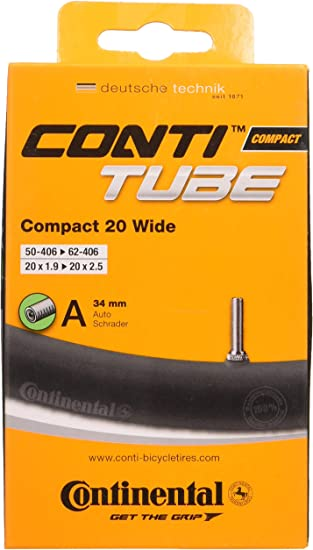 2-Pack, 27.5 x 1.75-2.5 Continental 42mm Presta Valve Tube Slim