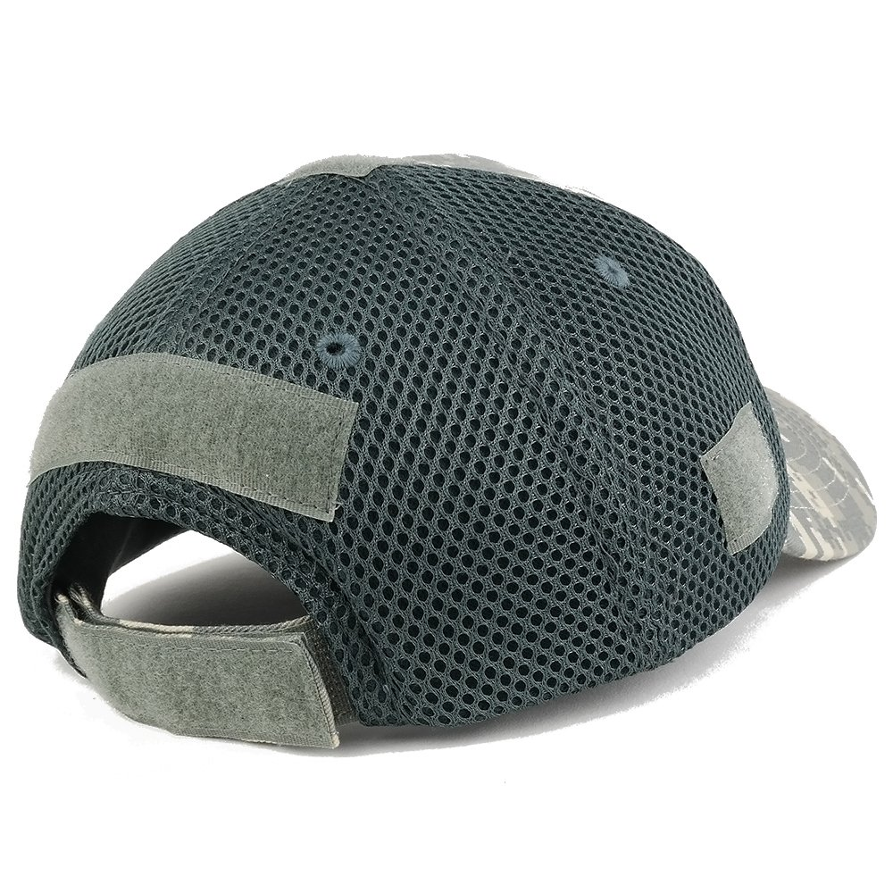 Armycrew US American Flag Black 3-D Rubber Tactical Patch Low Crown Adjustable Mesh Cap ACU