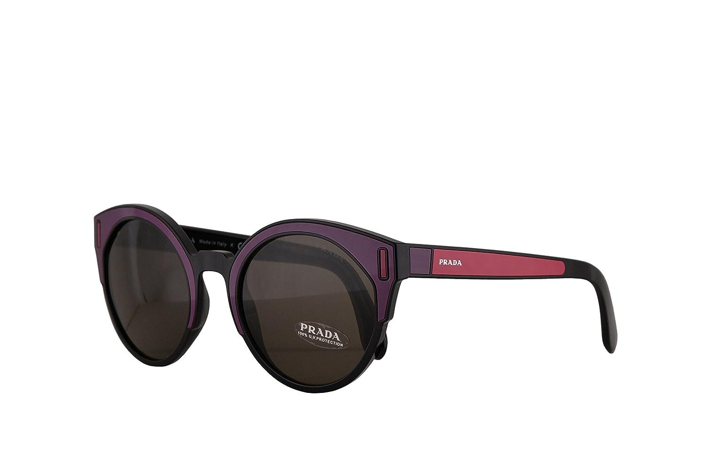 57cdb45fe4 Amazon.com  Prada PR03US Sunglasses Black Bordeaux Fuxia w Brown 53mm Lens  SSA5S2 SPR03U PR 03US SPR 03U  Clothing