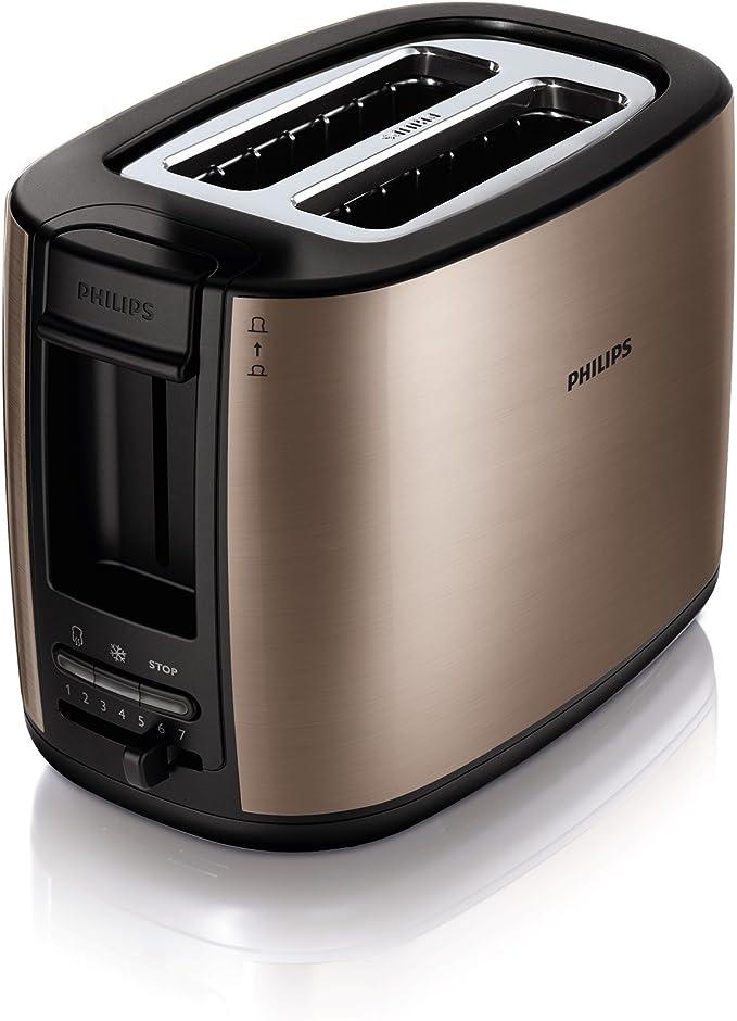 Philips HD2628/70 - Tostador (2 rebanada(s), Negro, Met&