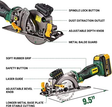 POPOMAN Cordless Circular Saw - MTW510B featured image 6