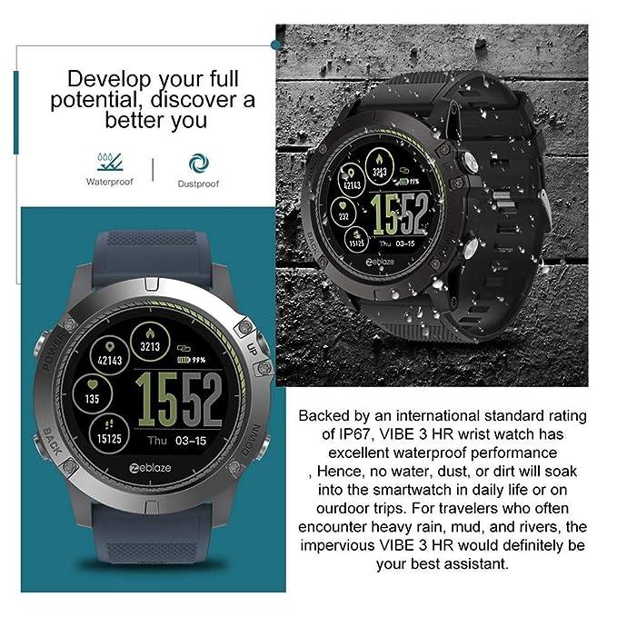 Zeblaze Vibe 3 HR Smartwatch, Fitnesstracker, Reloj de ...