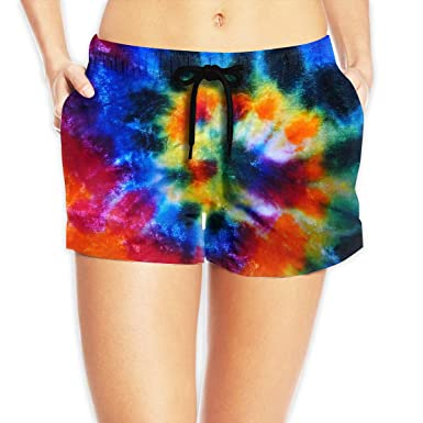 80c4af8cb9 Stazary Lady Tie Dye Athletic Beach Shorts Boardshorts Pants at Amazon  Women's Clothing store: