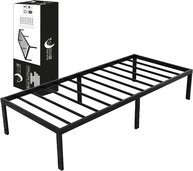 Dreamzie - Somier 90 x 190cm con Patas de 36cm - Bastidor de Cama Individual Plegable Metálico - Montaje Sencillo - Resistente