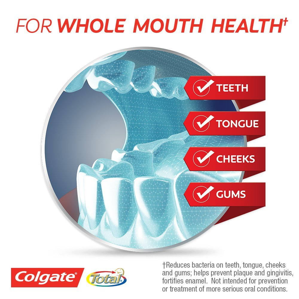 Colgate Total Advanced Fresh + Whitening Gel Toothpaste - 5.8 ounce (24 Pack) by Colgate (Image #7)
