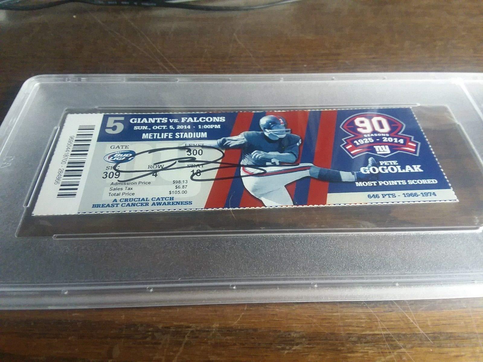 Odell Beckham Jr. Auto Autographed Signed NFL Debut Ticket New York Giants 10/5/2014 PSA/DNA