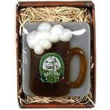 Lustapotheke® Handgemachte Seife in Bierkrug Form und Bier-Spa Aufdruck mit Geschenkverpackung