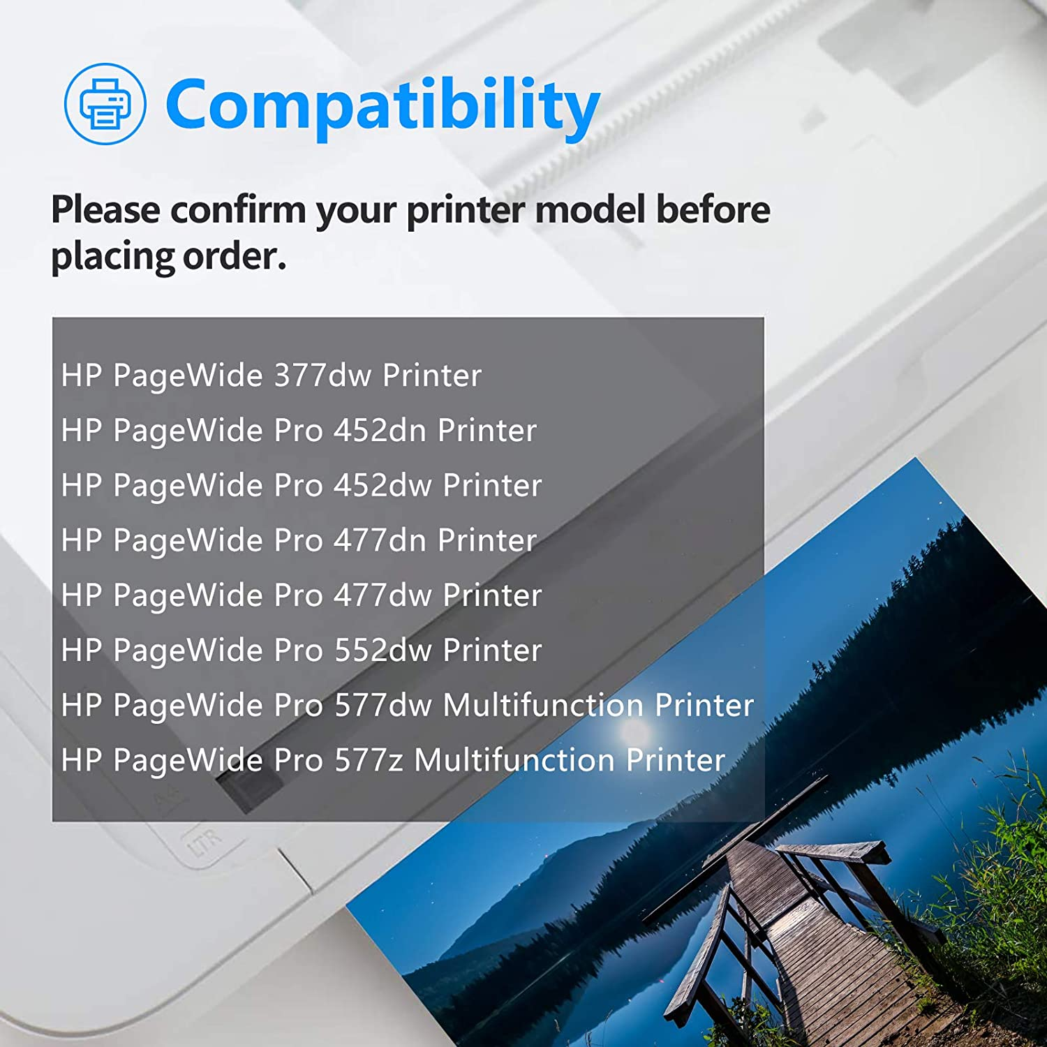 452dw 5 Pack 577z Printer for HP Page Wide 377dw Printer 477dn GREENCYCLE Re-Manufactured 972 972A Cyan Ink Cartridge Replacement Compatible for HP PageWide Pro 452dn 477dw 577dw 552dw