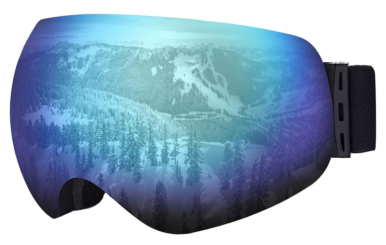 4e2209532912 OTG Ski   Snowboard Goggles - Frameless Dual-Layer Lens Snow Glasses for  Skiing