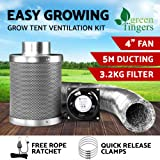 Greenfingers 18W Grow Tent Ventilation Kit with Powerful Fan and Air Ducting