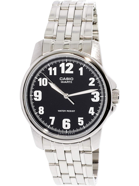 Casio MTP1216A-1B - Reloj para Hombres, Correa de Acero Inoxidable Color Plateado