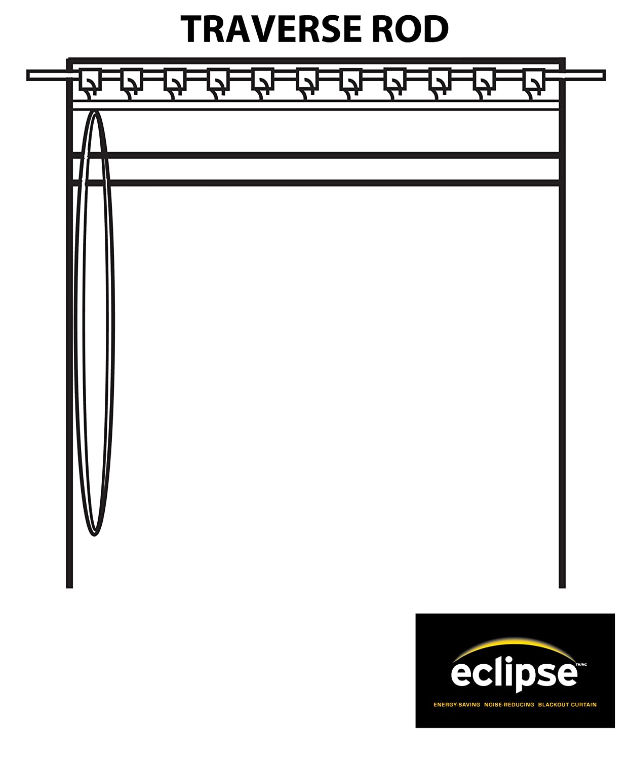 Back tab curtains on traverse rod - Eclipse Thermal Blackout Patio Door Curtain Panel 100 X 84 Chocolate Amazon Co Uk Kitchen Home