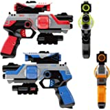 Blazeray Lazer Tag Gun Set - Two to Four Player Lazer Tag for Kids - Indoor / Outdoor Games