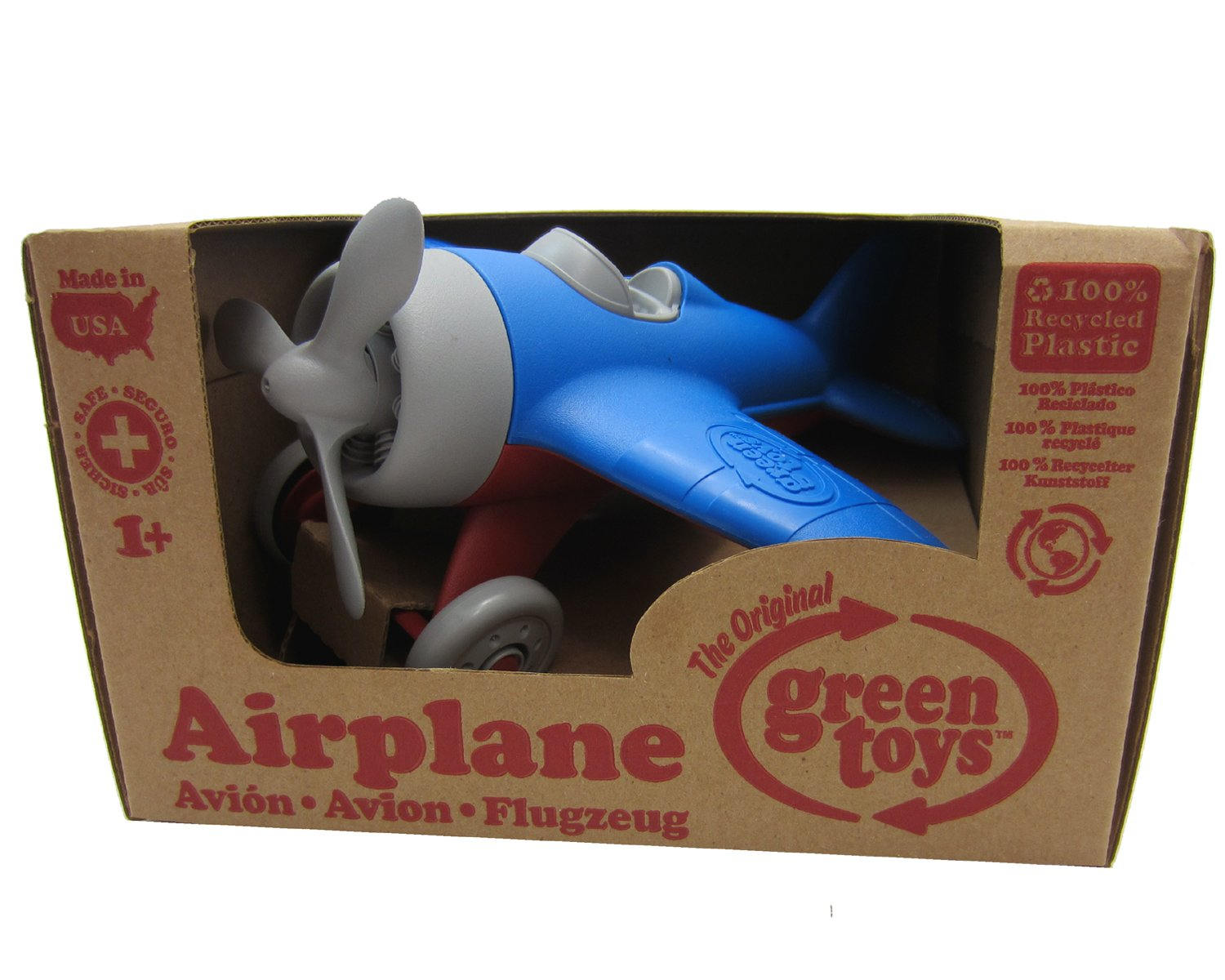 Colors Assorted GT-AIRA-1028 Green Toys Airplane