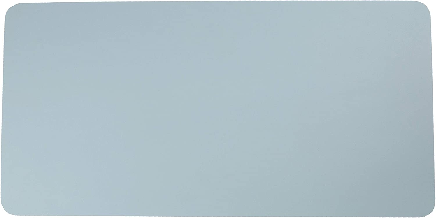 """Dual-Sided Desk Pad, Ultra Thin Waterproof Office Desk Mat, PU Leather Desk Blotter Protector, Large Writing Pad Mouse Mat for Office Home (31.5"""" x 15.7"""", Black/Wine Red) (Light Blue/Silver)"""