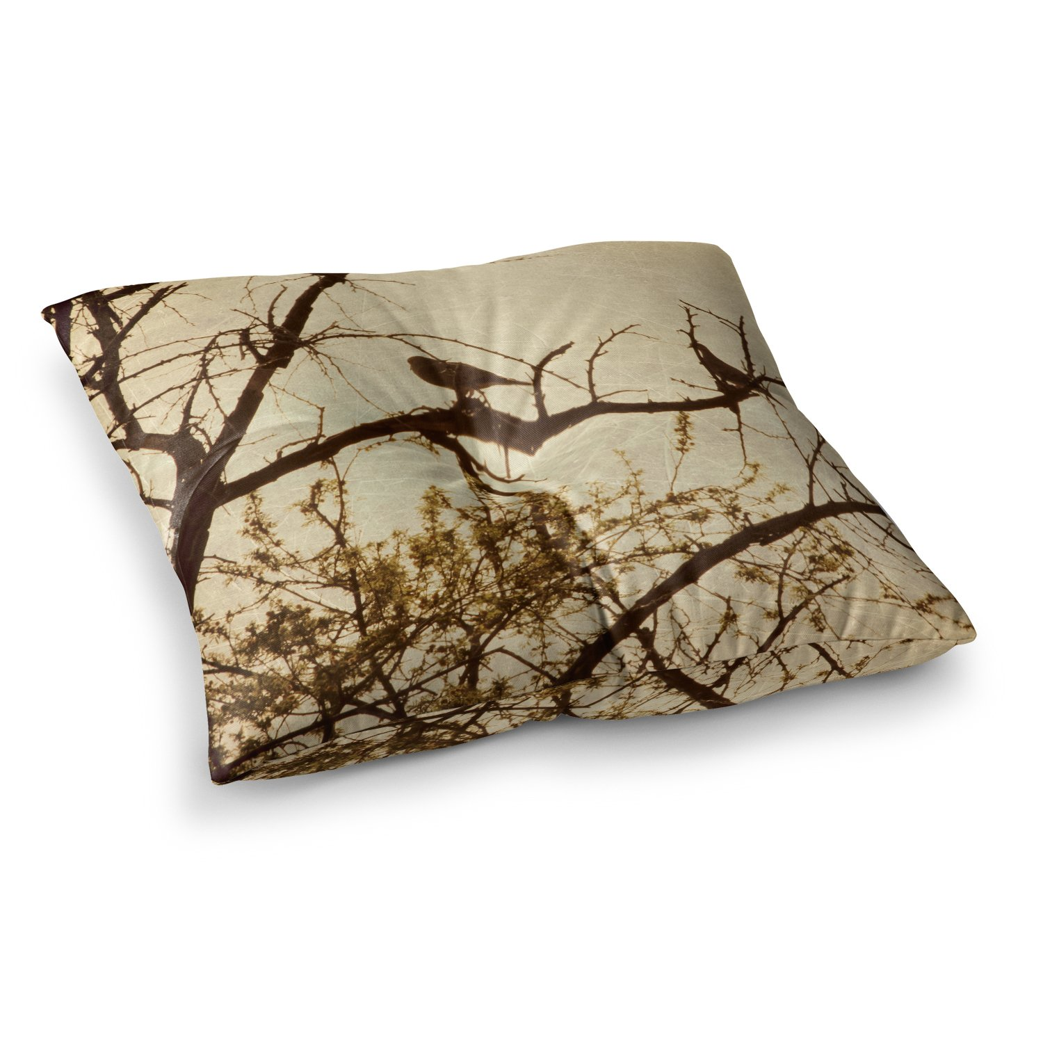 23 x 23 Square Floor Pillow Kess InHouse Sylvia Coomes Golden Brown Photography