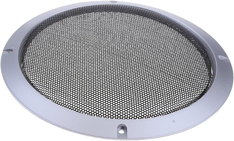 Perfk Metall Silber Auto Audio Lautsprecher Subwoofer Elektronik