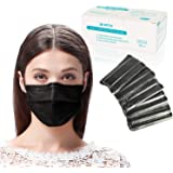 Disposable 3 Ply Face Mask with Elastic Ear loops, Breathable and Comfortable Protective Masks with Melt-Blown Fabric…