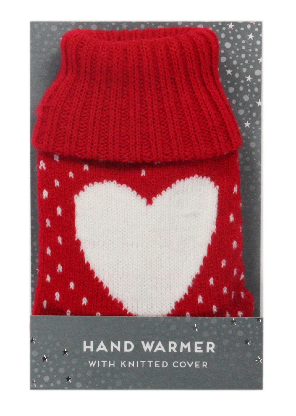 1 x Pocket Hand Warmer With Patterned Knitted Cover ITP