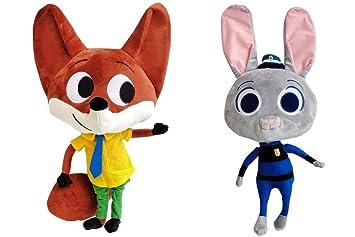 ディズニー ぬいぐるみ ズートピア 2体 ペア セット 販売ニック ワイルド ジュディー 約50cm Zootopia 人形 Nick