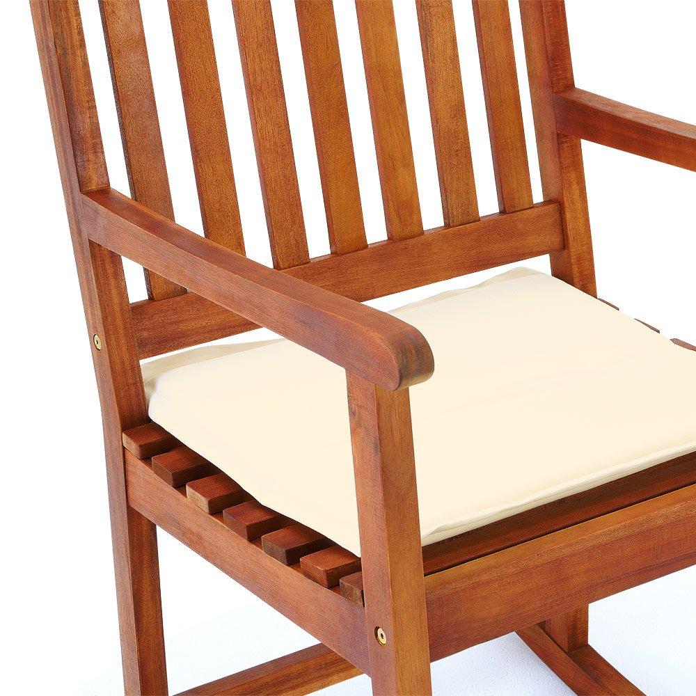 Elegant Stuhl Holz Foto Von Deuba Schaukelstuhl Kissen Gartenstuhl Hartholz Liegestuhl Gartenmöbel