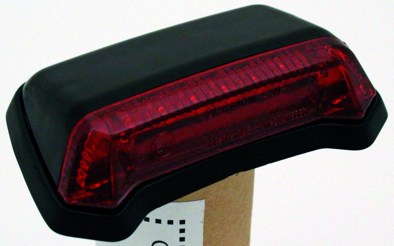 R/ücklicht LED f Fender,schwarz rotes Glas
