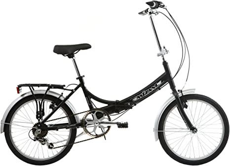 Mizani City+ - Bicicleta Urbana Plegable Negro Negro: Amazon.es: Deportes y aire libre
