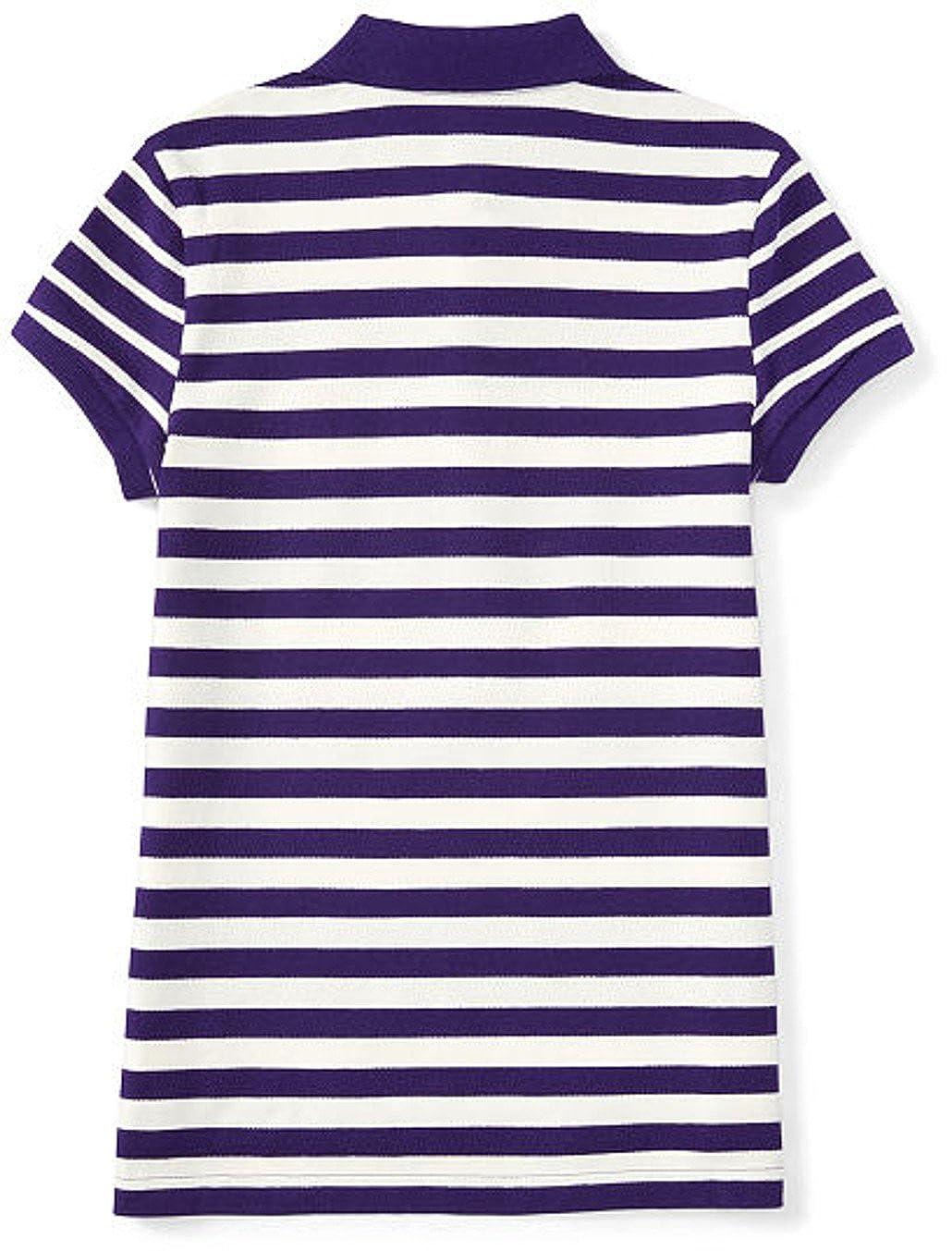 Ralph Lauren Girls Striped Stretch Mesh Polo