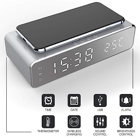 Amazon.com: Keen - Reloj despertador digital y soporte de ...
