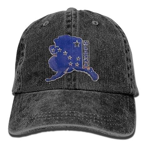 Wdskbg Diseño de la Bandera de Alaska Unisex Ajustable Gorras de ...