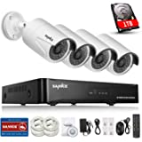 Sannce 960P PoE NVR Security Camera System & 1TB HDD with 4x 1.3MP IP Cameras