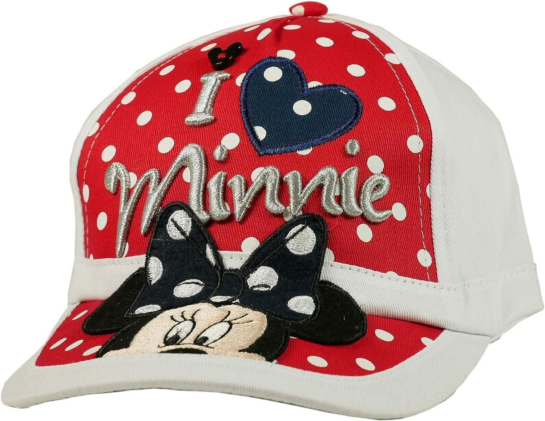 Disney - Gorra de béisbol, diseño de Minnie Mouse 52-54 rojo 54 ...