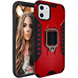 MODOS LOGICOS Case for iPhone 11, Dual Layers Shockproof Protective Phone Case with Built-in 360 Metal Rotating Ring Kickstan