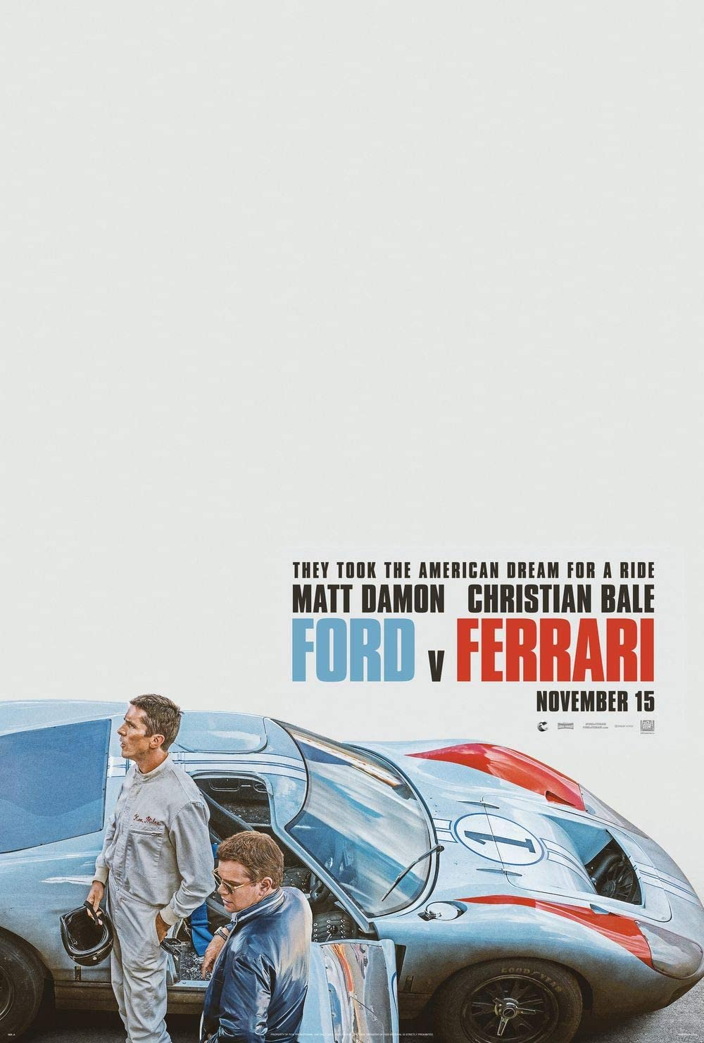 Amazon Com Ford V Ferrari Movie Poster Print Wall Decor 18 By 28 Inches Not A Dvd Posters Prints