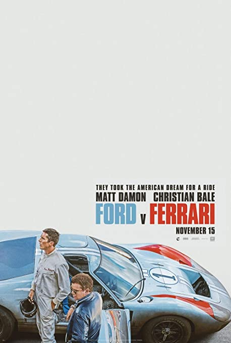 Image result for ford v ferrari movie poster