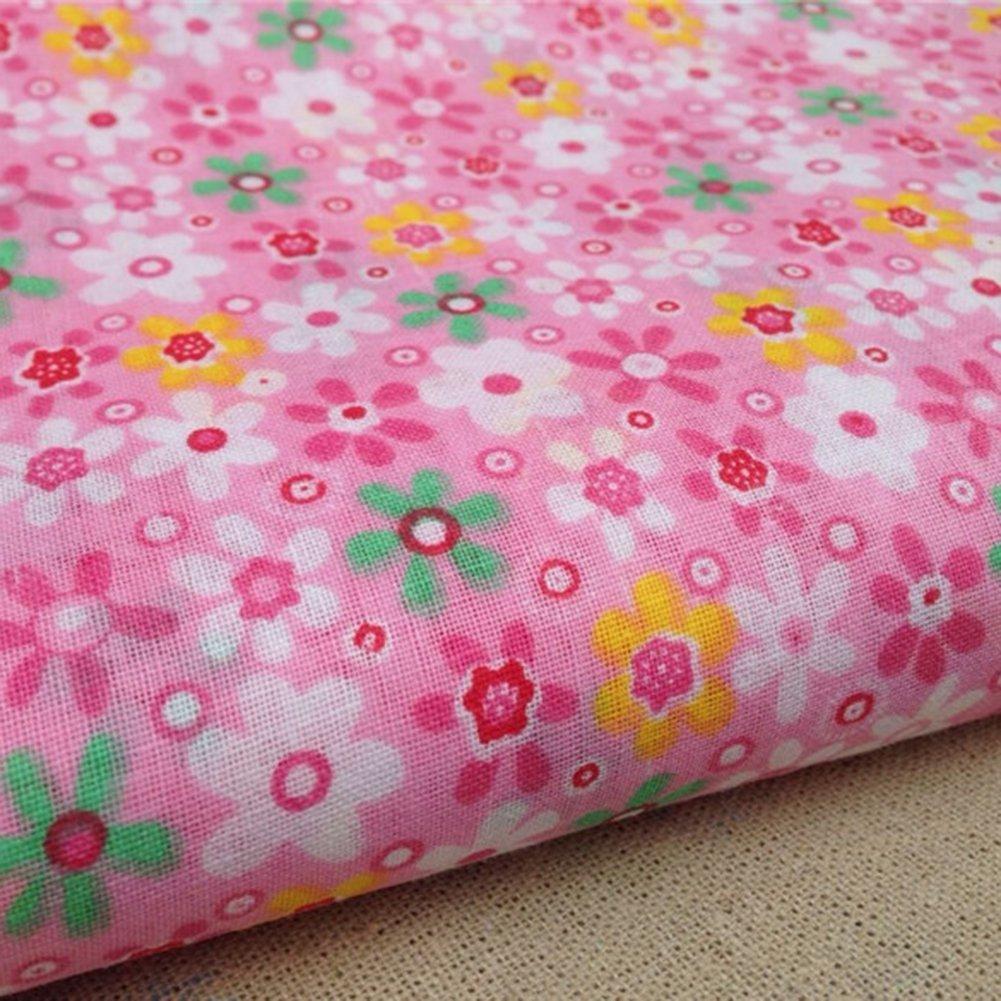 50 cm 7 Bl/ätter//S/ätze Von Baumwollgewebe Kleine Floral Plain Baumwolle Baumwolltuch Hand Diy Patchwork Blue Vessel 50 cm