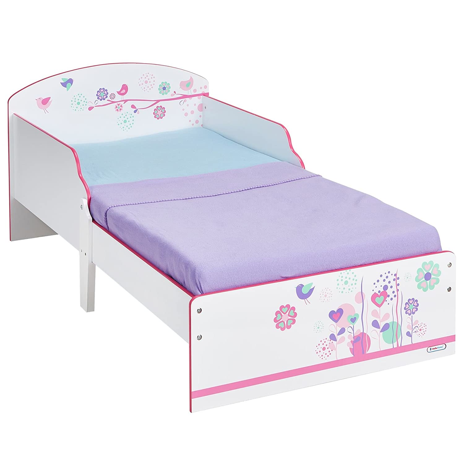 Butterflies and Flowers Patchwork Kids Toddler Bed by HelloHome Worlds Apart 450GGL