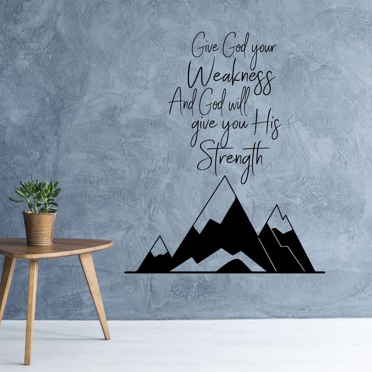 Terrific Amazon Com Religious Vinyl Decor Give God Your Weakness Alphanode Cool Chair Designs And Ideas Alphanodeonline