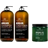 Botanic Hearth Argan Oil Shampoo & Conditioner Set and Argan Hair Mask Bundle – Sulfate Free Shampoo and Conditioner Set…
