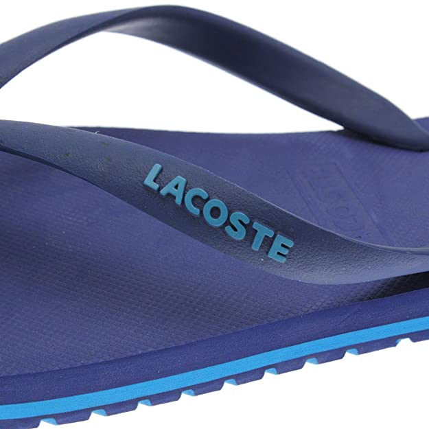 0dafabcfbe5a Lacoste Mens Mens Nosara Jaw Flip Flop in Blue - UK 11  Amazon.co.uk  Shoes    Bags