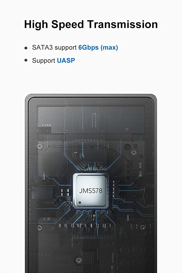 Amazon.com: Inateck - Carcasa para disco duro externo de 2,5 ...