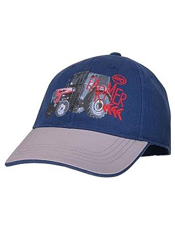 maximo Baby-Jungen Kappe Basecap Traktor, Blau (Navy Hellgrau 4858 ... 2165f3536e7
