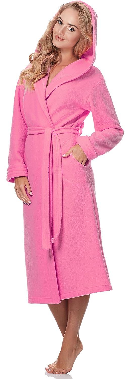 Merry Style Peignoir de Bain avec Capuche Robe de Chambre Femme 3S4R3N4