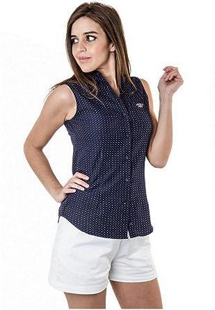 Spagnolo 304279028053 Blusa, Multicolor (Azul Marino con Punto Blanco/Rojo), Medium (Tamaño del Fabricante:M) para Mujer: Amazon.es: Ropa y accesorios