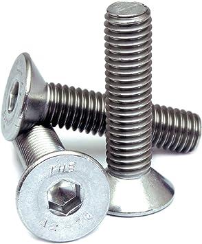 "QTY 10 A2 Stainless Steel FLAT HEAD Socket Cap Screws 18-8 1//4-20 x 1-3//4/"""