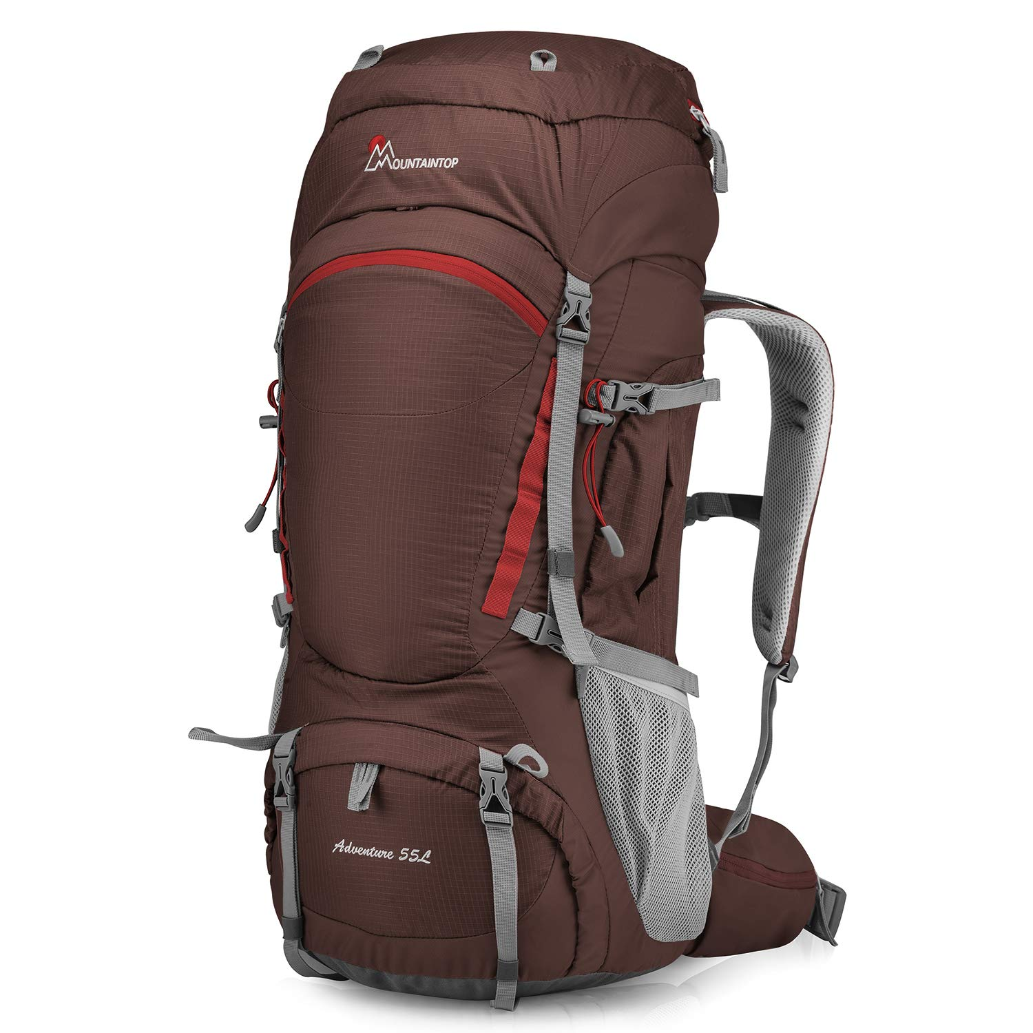 Mountaintop 55L/80L Hiking Backpack with Rain Cover by MOUNTAINTOP