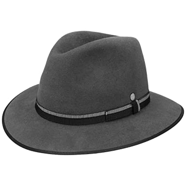 Lierys Grey Traveller Fur Felt Hat Men at Amazon Men s Clothing store  29be6a9995b0
