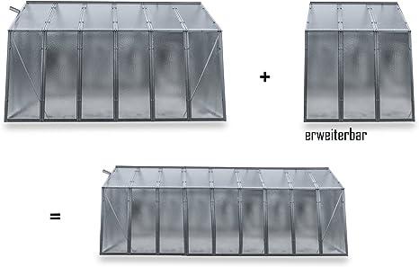 = 14,70 m/² Gebraucht = Fake-Angebot myowngreen Gew/ächshaus Hobby L Typ 6 NEU Gr/ö/ße 247 x 595 x 202 cm B x L x H
