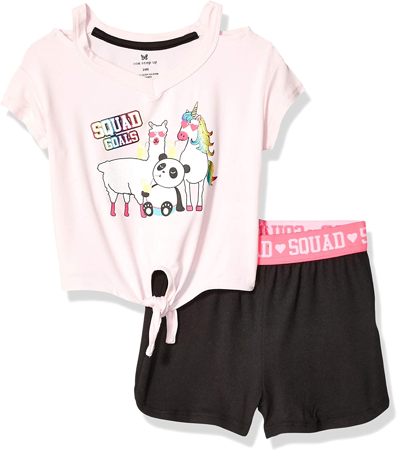 One Step Up Baby Girls' Soft Knit Top and Short Set
